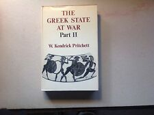 The Greek State At War: Part Ii - W. Kendrick Pritchett  H/C With Jacket Nice!