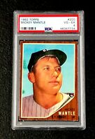 New York Yankees Mickey Mantle 1962 Topps #200 PSA 4 Vg-Ex