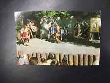 Frontier Village Amusement Park San Jose Indian dancing postcard