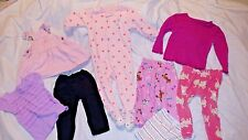 Lot BABY Girls CARTERS CIRCO OSH KOSH CLOTHES PJs Jeans Dress Pants Shirts 18 Mo