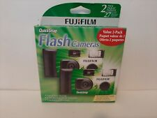 2 Pack FujiFilm QuickSnap Flash Camera 2 cameras total, 27 Exp Each Expired 7/18