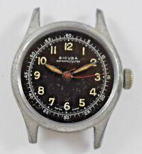 Vintage Sicura/Breitling Military Style Hand Wind Mechanic 7J Wrist Watch lot.s
