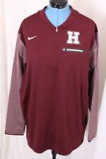 Harvard University Pilgrims Crimson Nike DriFit Pullover 1/4 Zip Jacket Mens XXL