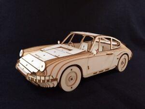 Laser Cut Wooden Classic Porsche 911 Model/Puzzle Kit