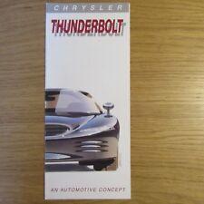 CHRYSLER THUNDERBOLT Concept Car USA American Brochure Leaflet ~ December 1992
