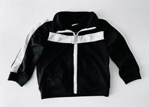 NIKE Baby Black White Athletic Gym Track Jacket boys 6 Months