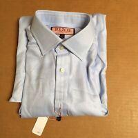 Thomas Pink Classic Fit Twill Solid Royal Blue Dress Shirt 15 x 35.5 New AR83