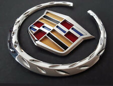 "New Cadillac Front Grille 6"" Emblem Hood Badge Logo Chrome Color Symbol Ornament"