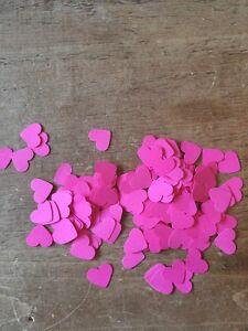 600 Romantic Deep Pink Paper Hearts Wedding Table Decoration/Confetti-1.5cm