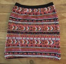 Ella Moss Anthropologie Girls Multicolor Sequin Embellished Skirt Size 14