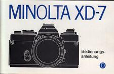 Minolta Bedienungsanleitung für XD-7 - Anleitung #kaufb