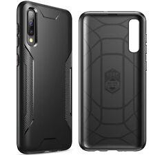 For Samsung Galaxy A50 Case Slim Fit TPU Bumper Case-【Karbon Shield】Black
