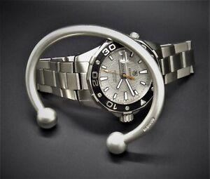 """Men's Gents """"Vintage Matte Look"""" Solid 925 Silver Ball Torque Bangle Bracelet"""