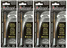 Four Fisher SPR Series Black Ink / Medium Point Refills #SPR4