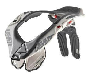 Leatt 5.5 Motocross MX OffRoad Race Neck Brace Steel White Silver Adults