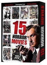 15 CLASSIC HORROR MOVIES..DVD FORMAT..(VINCENT PRICE..JAMES EARL JONES..ACTORS