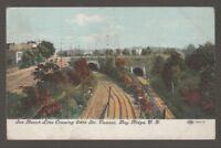 [21225] 1910 POSTCARD SEA BEACH LINE CROSSING 64th STREET TUNNEL, BAY RIDGE, N Y