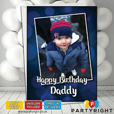 Personalised Photo Birthday Card Any Age • A5 Glossy Greetings Card (S6)