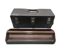 "Vintage Brown Kennedy S-19 Tool Box with Removable Tray 19"" x 7"" x 7"" Exc cond!"