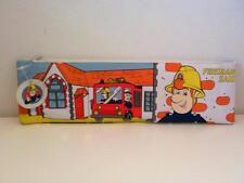 VINTAGE Fireman Sam grandi PVC NEW OLD STOCK ASTUCCIO 1980s 1990s