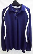 Mens Adidas Golf Climalite Blue White Shift Long Sleeve Size M