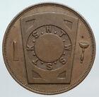 USA FREEMASON Unadilla, NEW YORK Lodge No 178 VINTAGE Penny Masonic Token i90632