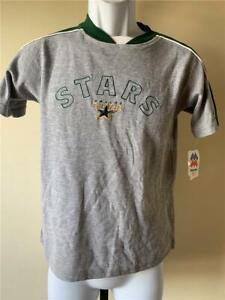 New Dallas Stars Youth Size M Medium Gray Majestic Shirt