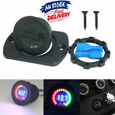 12V Marine LED Digital Panel  Voltmeter Meter Motorcycle Voltage Gauge Car