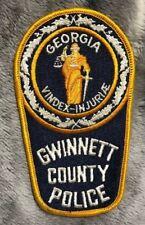 "vintage ""GWINNETT COUNTY GEORGIA POLICE"" PATCH ga LAW ENFORCEMENT OFFICER rare"