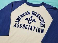 Vtg 70s 80s Felt Letter Jersey raglan t shirt M Medium American Volkssport Assoc