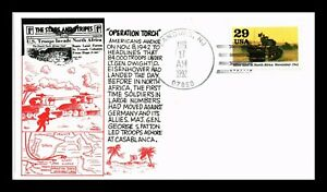 DR JIM STAMPS US OPERATION TORCH NORTH AFRICA WWII FIRST DAY COVER UNSEALED