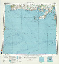 Russian Soviet Military Topographic Maps - GLACE BAY (Canada), 1:1M, ed.1990