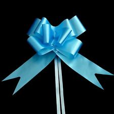 50mm 20 Light Blue Pull Bows Ribbons Car Wedding Florist Gift Party Decorations