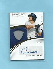 2015 Panini Immaculate Collection Paul Molitor HOF Auto Autograph Game worn 1/20