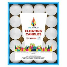 Unscented Floating Candles, Set of 40 White Floating Tea Lights Candles with ...