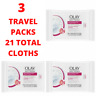 3 Travel Packs Olay Daily Facial Hydrating Cleansing Cloths w/ Grapeseed Extract