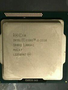 INTEL Core i5-3330 3.00GHz Quad Core CPU 6MB L3 Cache, Socket 1155 - SR0RQ