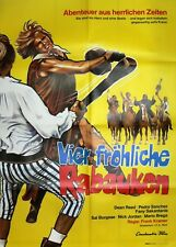 "1 Original Filmplakat A1, ""Vier fröhliche Rabauken"" 1973"