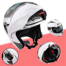 XXL Motorradhelm Weiß Rollerhelm Schutz Sturzhelm Helm Motorrad Schutzhelm 63-64