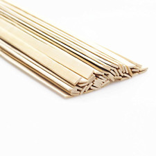 "Natural Bamboo Sticks, Wooden Craft, 15.5""Longth x 3/8 Width (50 Pcs)"""
