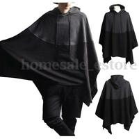 Fashion Casual Men Hoodie Hooded Sweater Pullover Cloak Batwing Cape Poncho Coat
