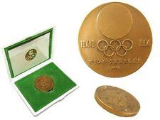 1964 OLYMPIC GAMES TOKYO Japan Commemorative Bronze Medal Kamekura Yusaku & Case