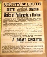 1906 co Louth Ireland, Notice of Parliamentary election poster- RARE