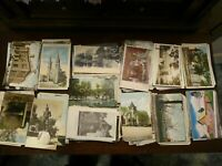LOT OF 50 + VINTAGE POSTCARDS ~1900s ~1960s * USA ~ANTIQUE & CHROME , ALL SIZES