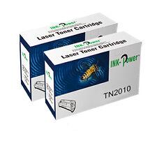 2 TN2010 Compatible Cartucho de Tóner para BROTHER DCP-7055 HL-2130 HL-2132