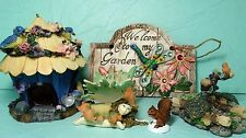 Miniature Fairy Garden Starer Set Fairy House Cottage Pond Plaque Accessory #