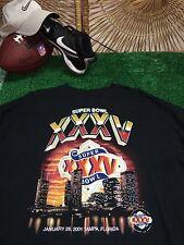 48b07586f Xxl 2XL L T-Shirt Super Bowl XXXV 35 Baltimore Ravens New York Giants C6