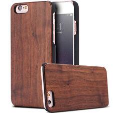 """Pellicola+Custodia cover legno+plastica per iPhone 6 Plus 6S 5.5"""" case rigida"""