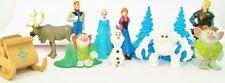 FROZEN 12 Figure Set Disney PVC TOY Cake Topper ELSA Olaf MARSHMELLOW Anna TROLL