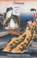 KATSUSHIKA HOKUSAI JAPANESE ART MOCAMBIQUE-CORREIOS 2002 MNH STAMP SHEETLET